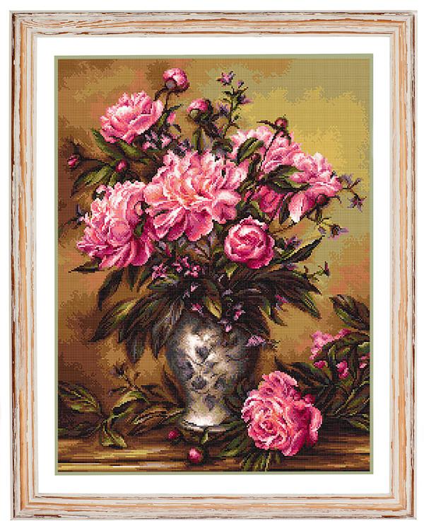 Billede Vase med pæoner