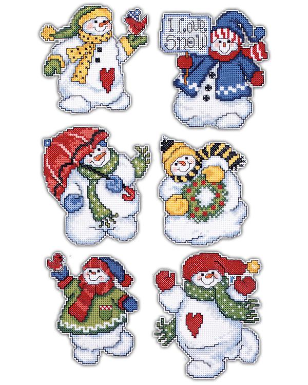 Tannenschmuck Schneemänner 6-er Pack