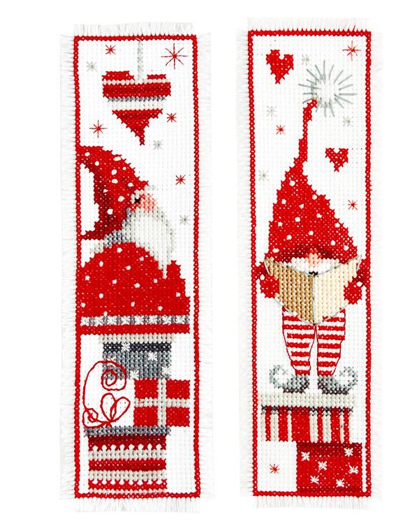 Bokmärken Jultomtar 2-pack
