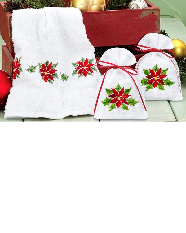 Gjestehåndkle/Duftposer Jul 2-pk