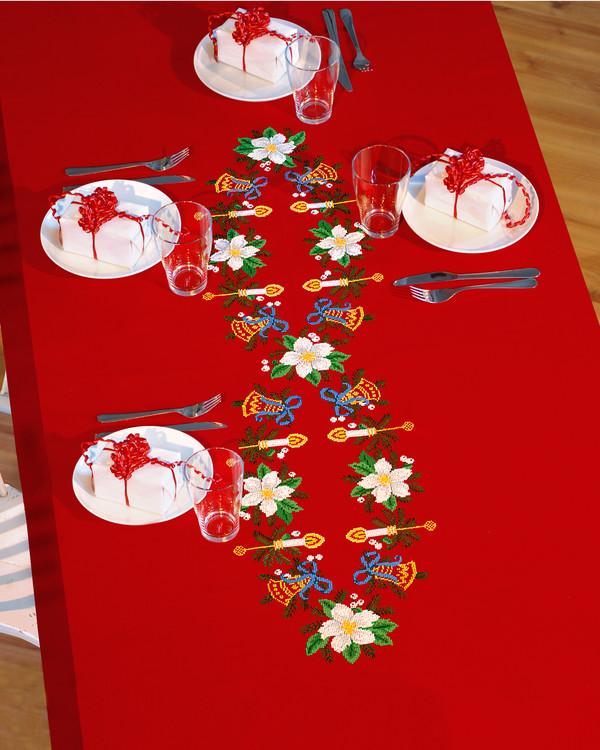 Juledug rød
