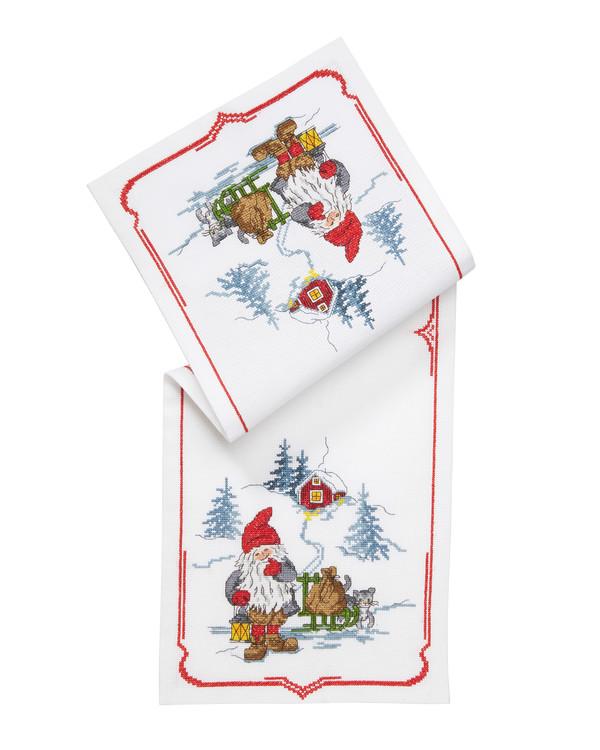 Broderipakke Løper Juletider