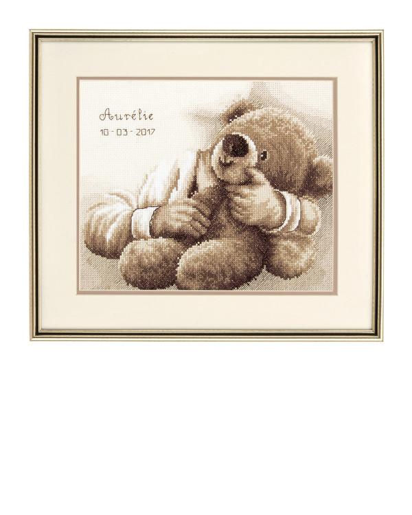 Broderikit Födelsetavla Teddybjörnen