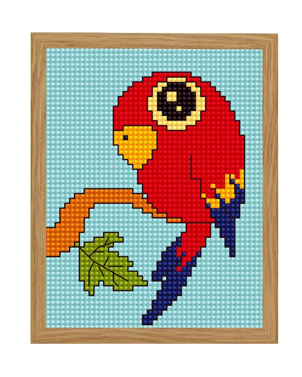 Taulu Kaunis punainen ara