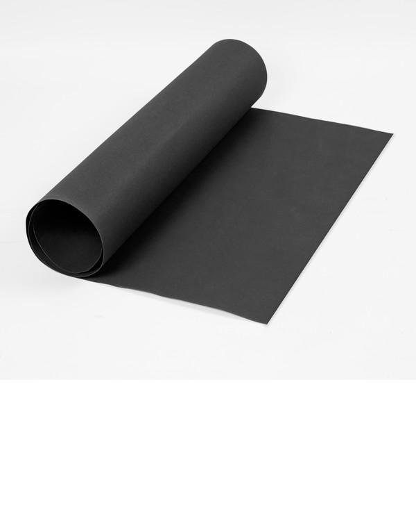 Læderpapir sort uden garn og mønster