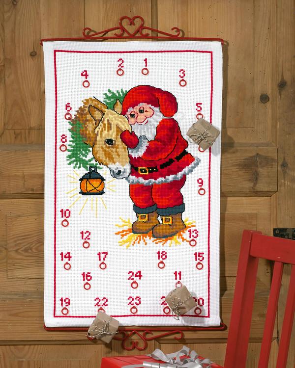 Broderikit Kalender Jul i stallet