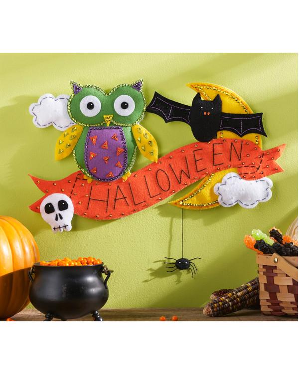Filtbroderi Halloween