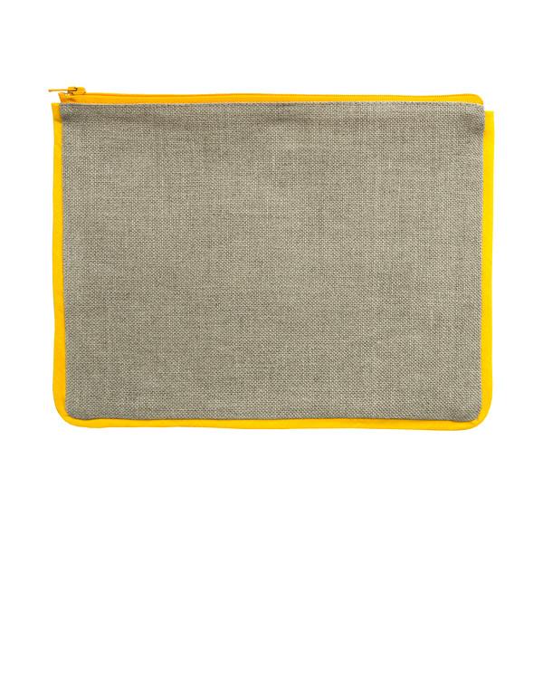 Etui ubleket lin/gul uten garn og mønster