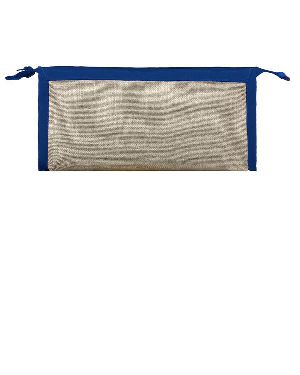 Pennfodral oblekt linne/mörkblå utan garn och mönster