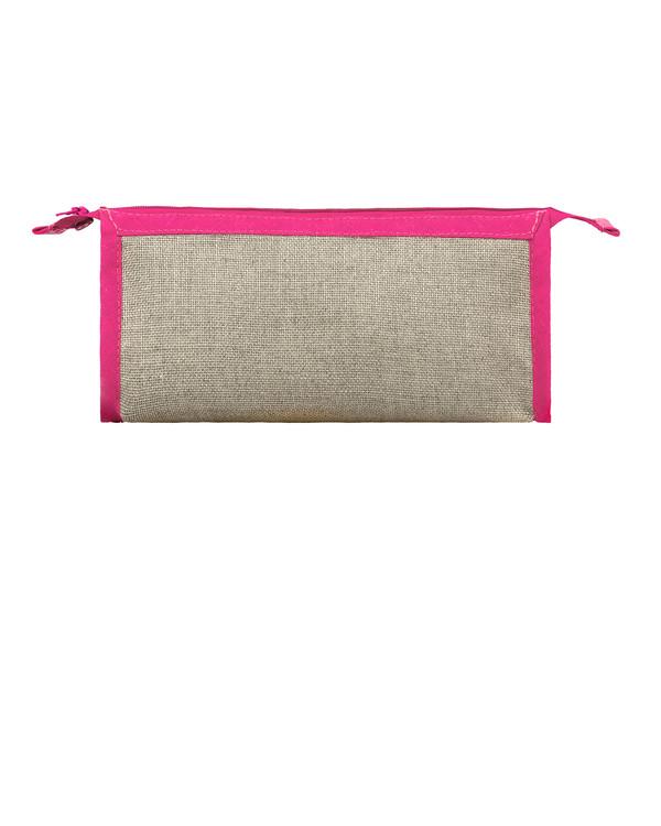 Pennfodral oblekt linne/rosa utan garn och mönster