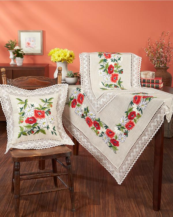 Tyynynpäällinen Kukkaset lankoineen tai ilman lankoja