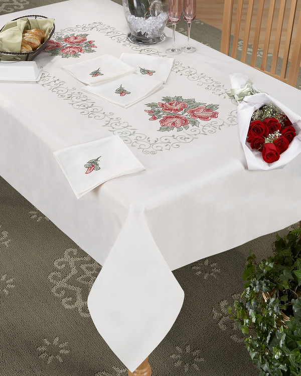 Middagsduk Rosarrangement