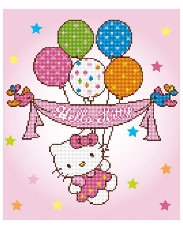 Diamond Painting Hello Kitty juhlii