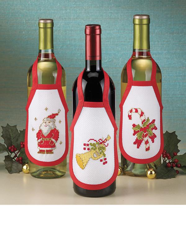 Flaschenschürzen Weihnachten 3-er Pack