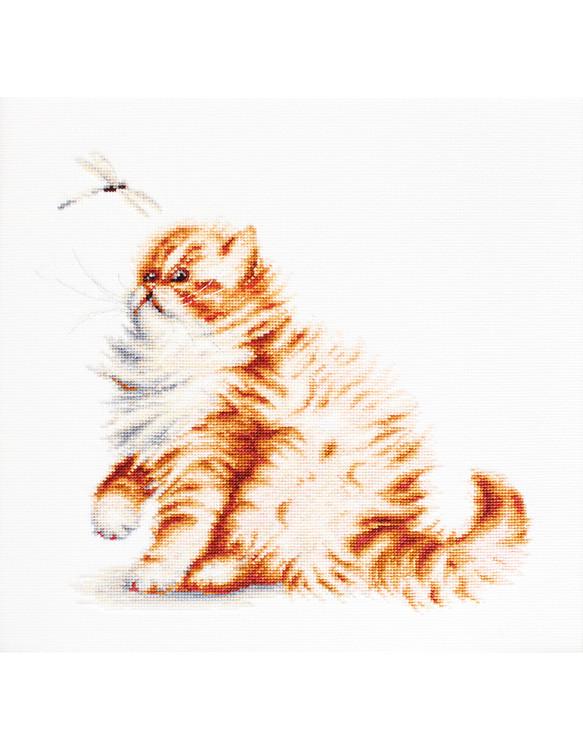 Billede Kat med guldsmed