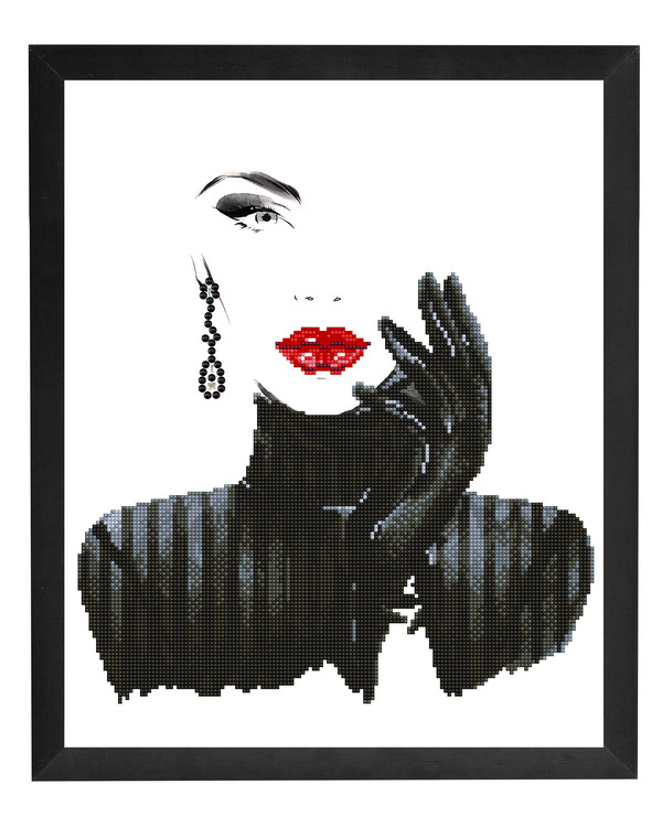Diamond painting Lady in black
