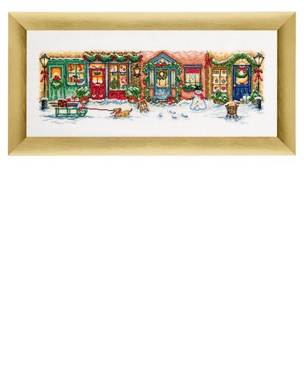 Bild Weihnachtsstraße Leinen