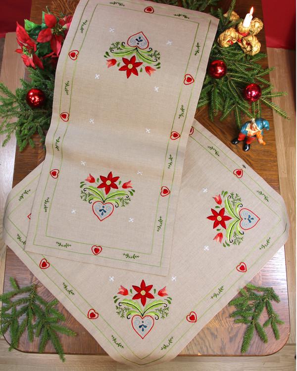 Mitteldecke Weihnachten mit oder ohne Garn