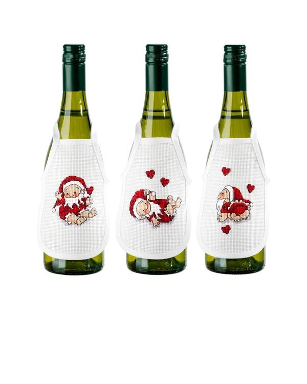 Flaskförkläde Småtomtar 3-pack