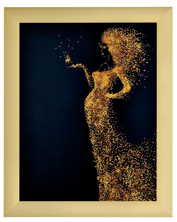 Helmikirjomus Lady in gold