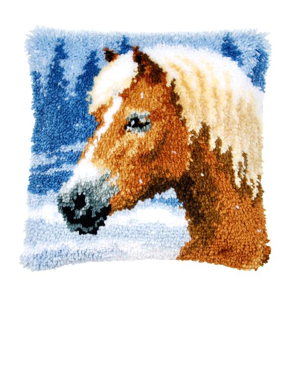 Ryijytyynynpällinen Kaunis hevonen