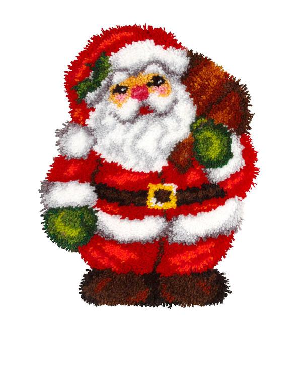 Knüpfmatte Weihnachtsmann