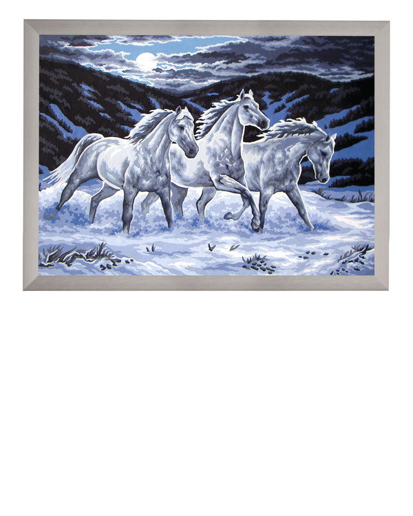 Broderikit Stramalj Vildhästar