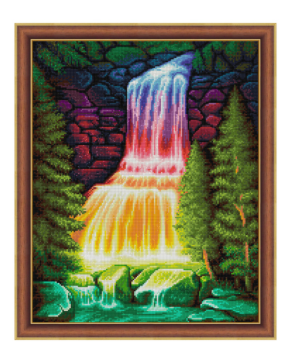 Diamond painting Fargerik foss