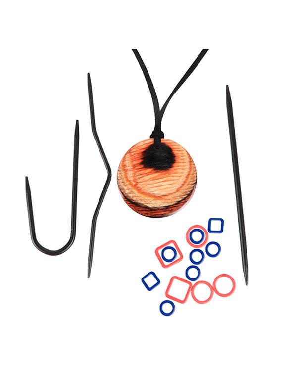 Magnet halsband set natur