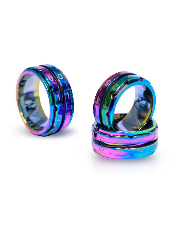 Varvräknare KnitPro ring regnbågsfärg