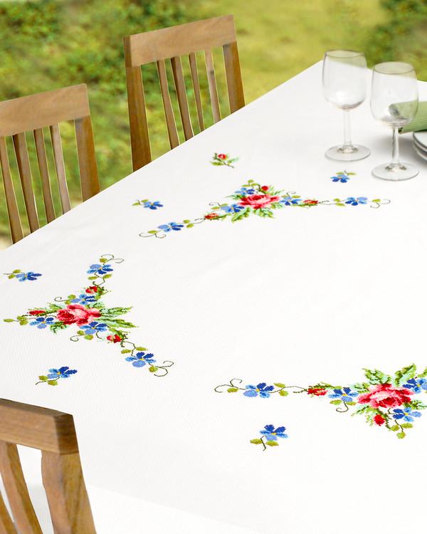 Middagsduk Roser og fioler