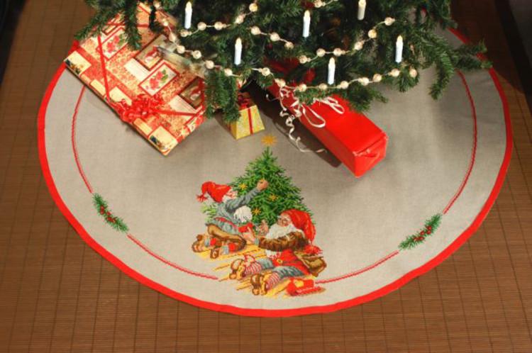 Juletræstæppe Julehygge