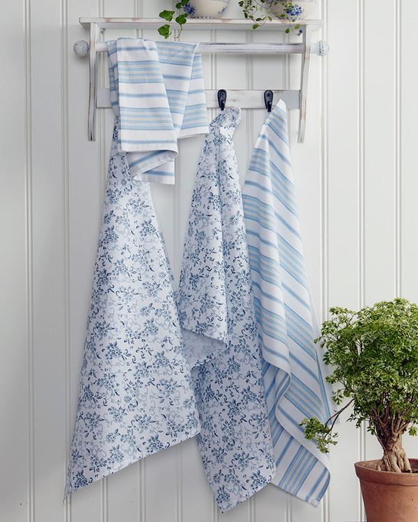 Kjøkkenhåndklær 4-pk blå