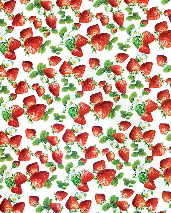 Voksdug Jordbær metervare