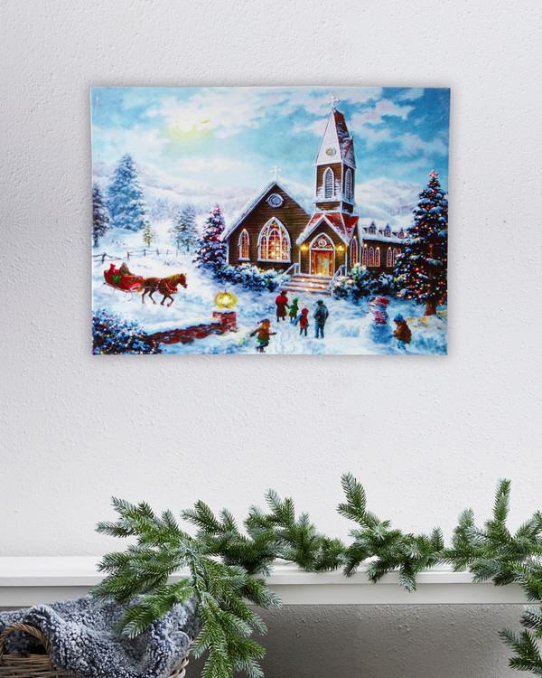 Jultavla  med LED belysning by