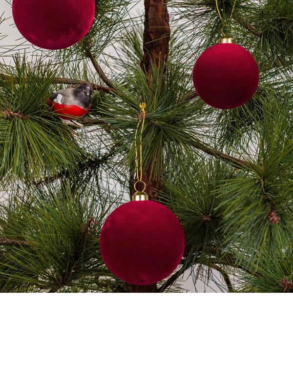Juletrekuler Fløyel 8-pk