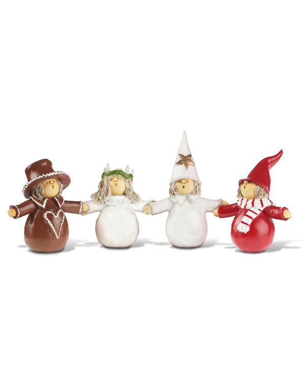 Juldekoration Luciatåg 4 figurer