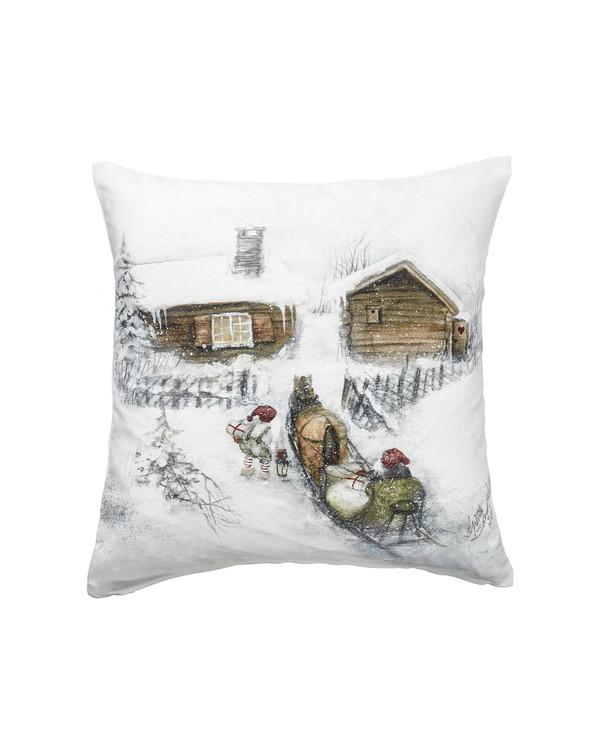 Tyynynpäällinen Joulu Talo, 1 kpl/pakkaus