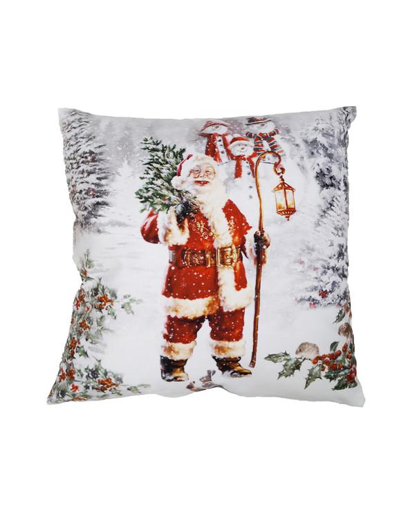 Pudebetræk Jul Fløjl Nissefar
