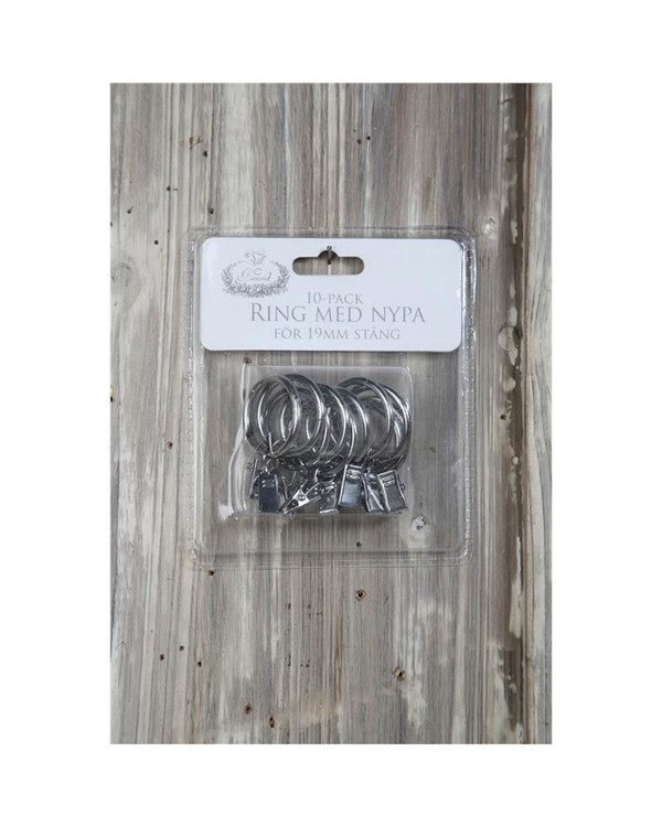 Gardinring Silver 19 mm 10-pack
