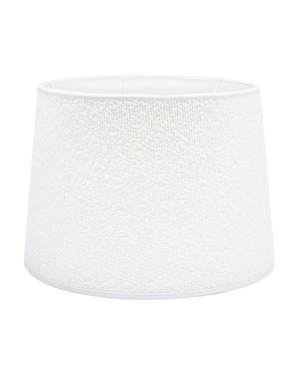 Lampeskjerm Sofia Bouclette Blanc