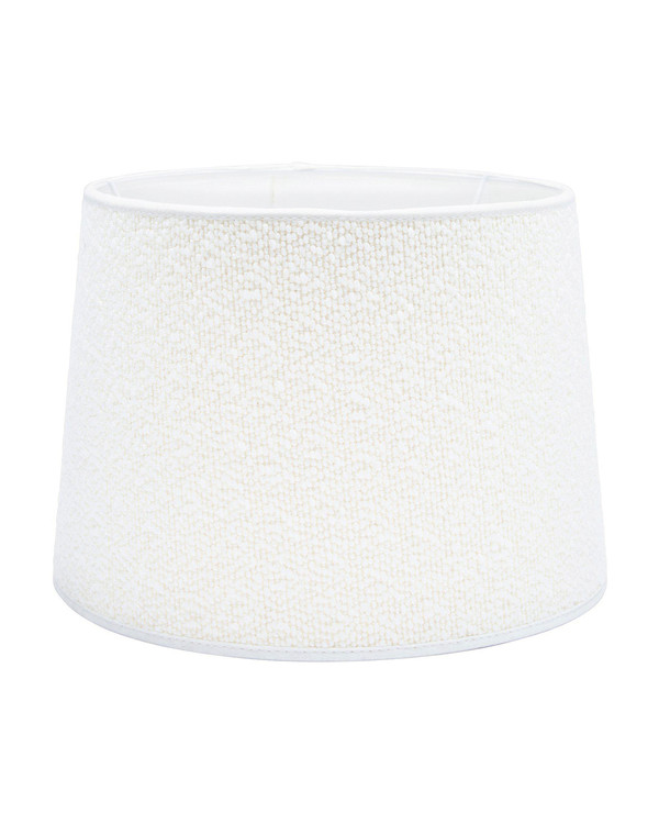 Lampskärm Sofia Bouclette Blanc