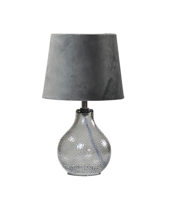 Bordlampe Julia Fløyel Grå