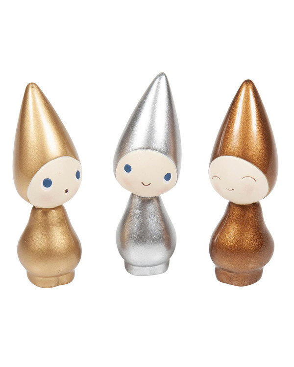 Peggy Guld/Silver/Koppar 3-pack Höjd 6 cm