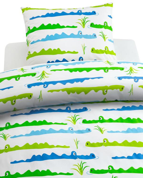 Sengetøj Junior Krokodille 2-delt