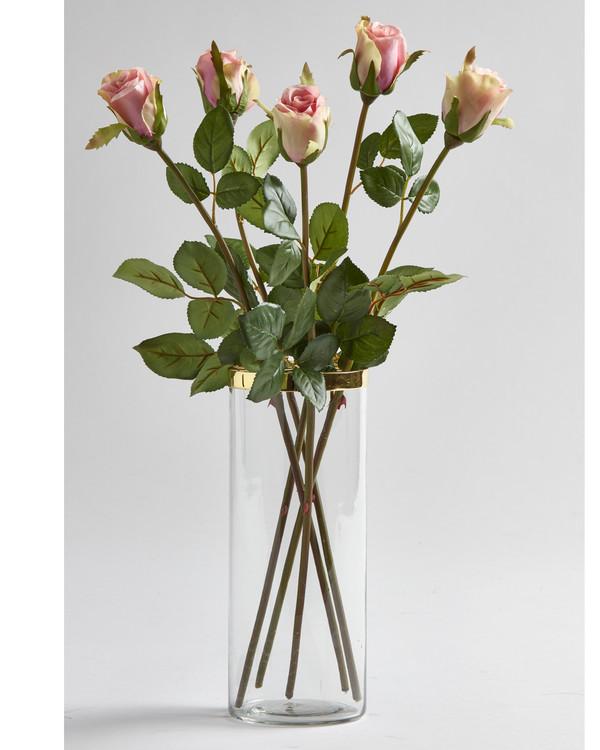Kunstplante Rose 5-pk
