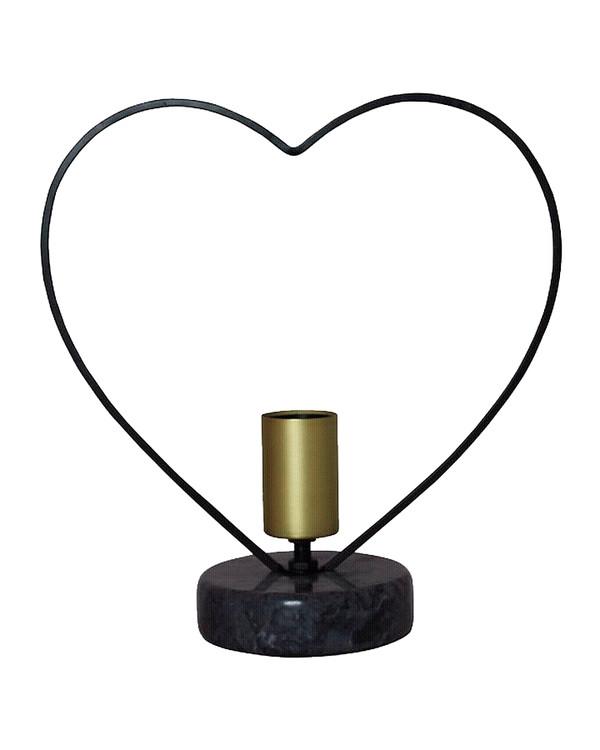 Bordslampa Hjärta