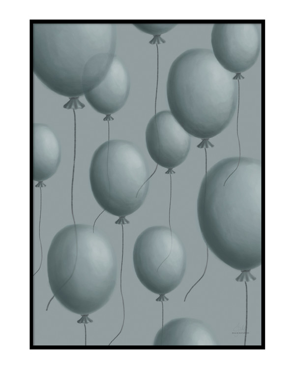 Blue balloon Poster