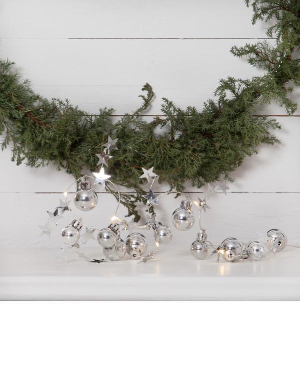 Lyskæde Christmas sølv