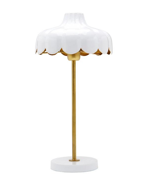 Bordlampe Wells hvid